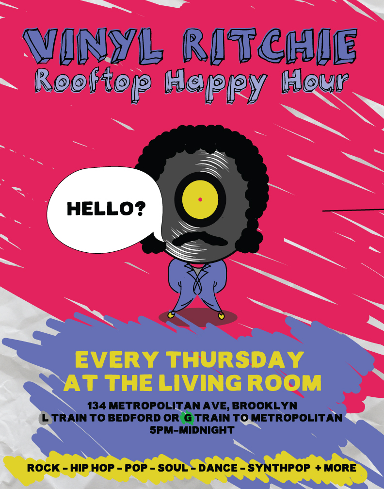 5PM 11PM Rooftop Happy Hour With DJ Vinyl Ritchie